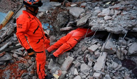 help in the earthquake mexico 2017